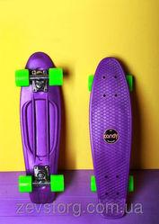 Скейтборд скейт Penny Board фиолетовый (Пенни борд): 6 цветов лонгбор